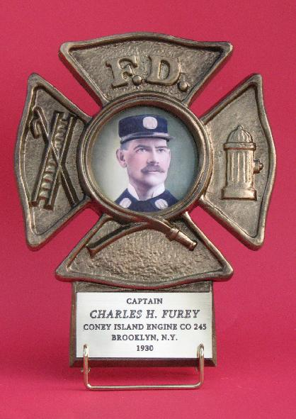 gold firefighter picture frame