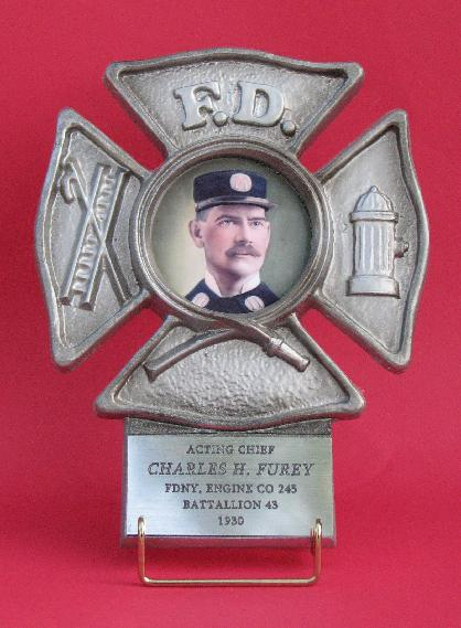silver picture frame for the fireman